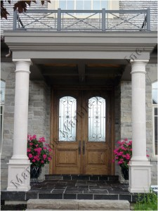 Limestone Column Design Front Porches